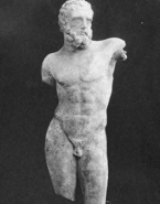 Statue antique d'homme barbu (fragmentaire)